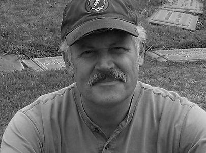 J Alfier at Bukowski's Grave.JPG