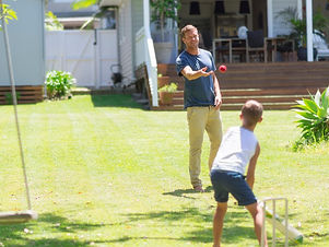cricket-father-against-son-picture-id500