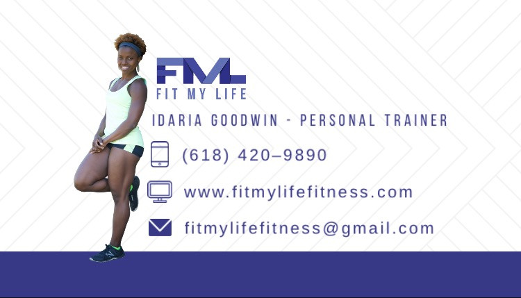 The Creator of Fit My Life Fitness's New Business Card