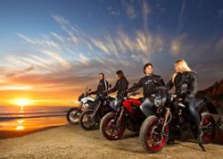 plage et moto