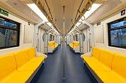 Assentos Subway amarelas