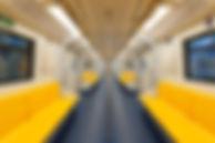 黄色の地下鉄席