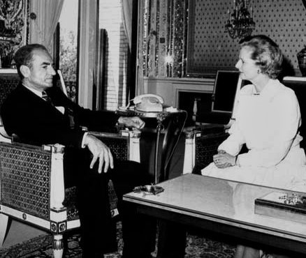 Margaret Thatcher with the Shah of Iran