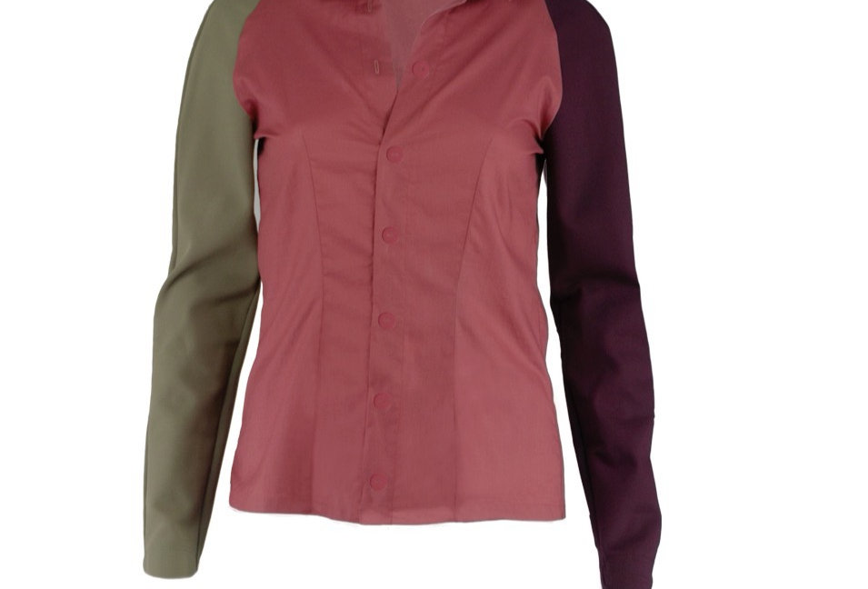 Dreifarbige Bluse