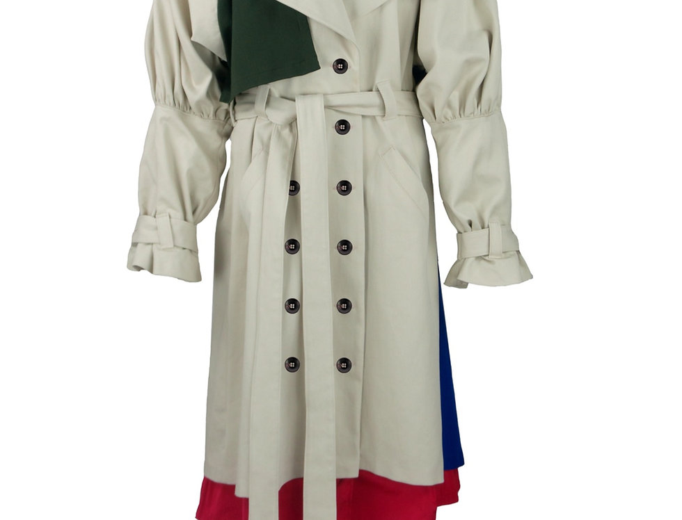 Oversize Trenchcoat with Puffie Sleeves