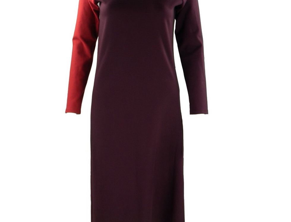 Jersey Dress with Turtleneck