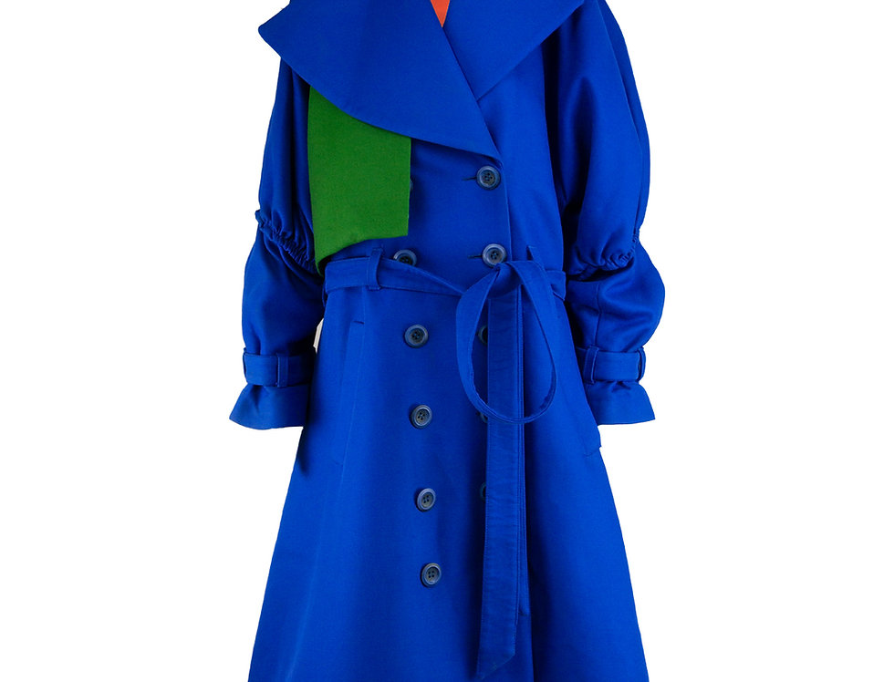Oversize Trenchcoat with Puffy Sleeves