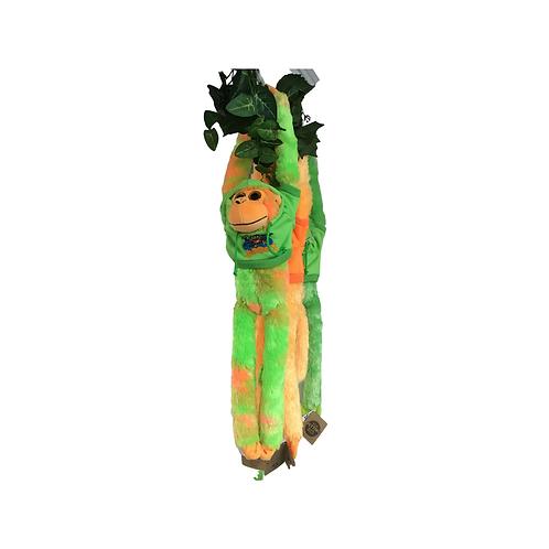 Plush Monkey - Green and Orange Tie-Dye