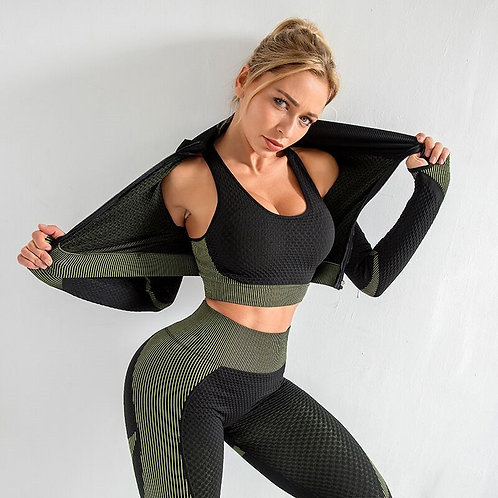 Seamless Yoga Set   Running Set