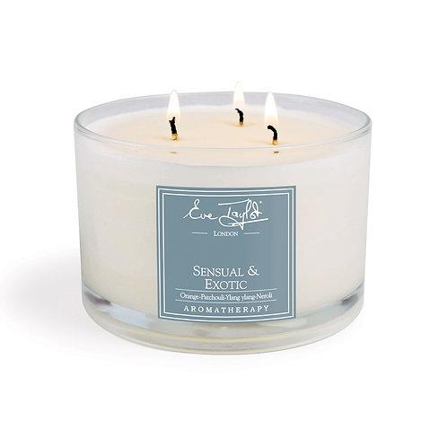 Sensual & Exotic 3 Wick Aroma Wax Candle