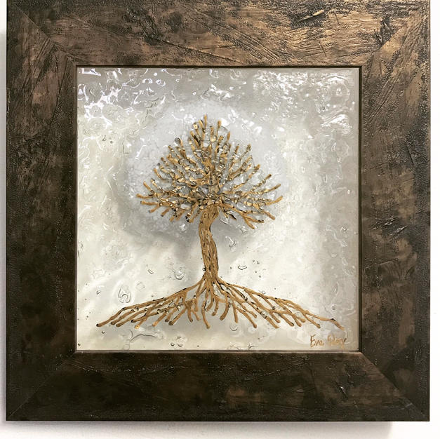 Tree of Life in White & Gold