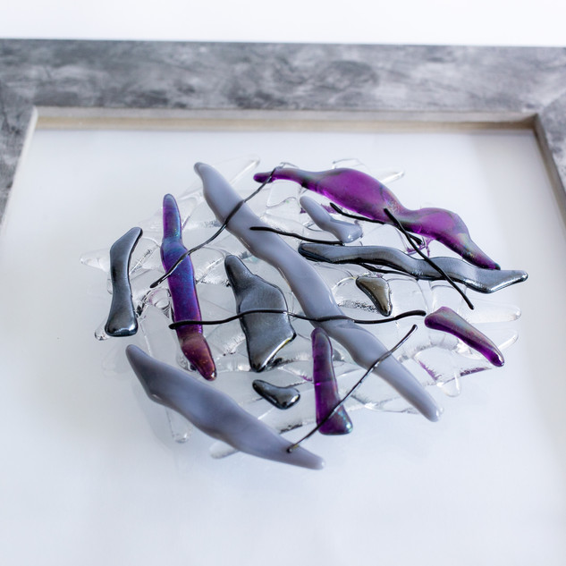 Finding the Balance in purple & grey