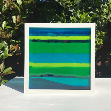 Meditation series in blue and green