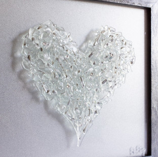 Heart Beat in Clear with Swarovskis