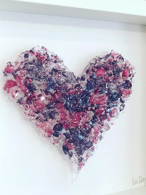 Heart Beat in Pink & Purple