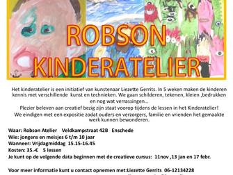 Robson Kinderatelier, startdata:                 11 november, 13 januari en 17 februari