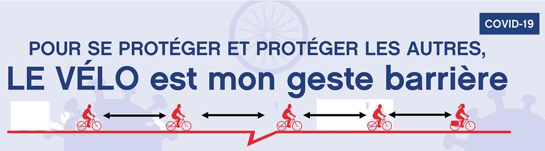 le vélo mon geste barrière