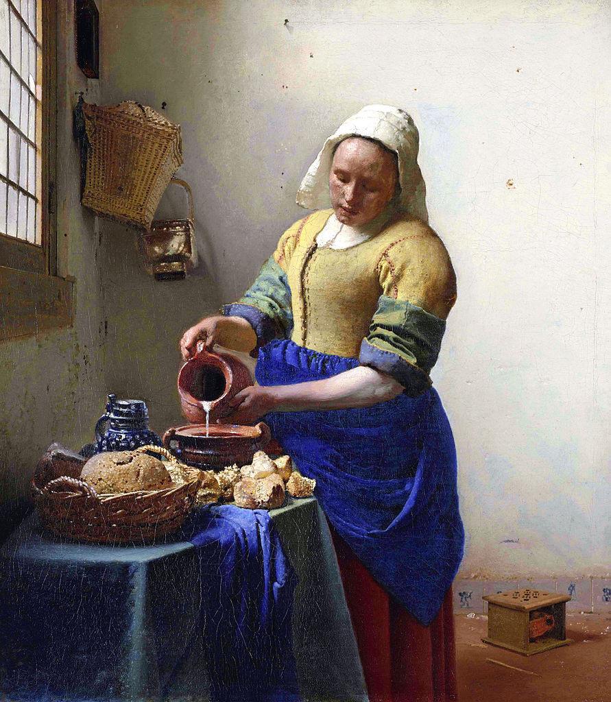 Johannes Vermeer, La Laitière, Rijksmuseum, ©Amsterdam, The Rijksmuseum