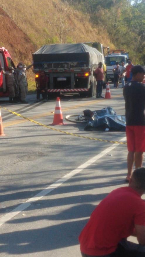 DUAS BARRAS: Ciclista morre atropelado na localidade de Holofote