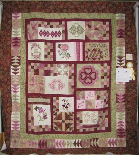 Bed Quilt: Peace, Love, Applique