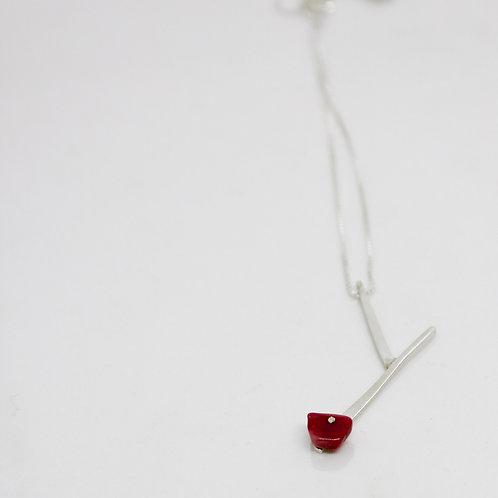 colar flor de cerejeira mini
