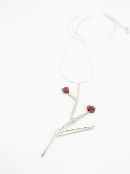 colar flor de cerejeira longo