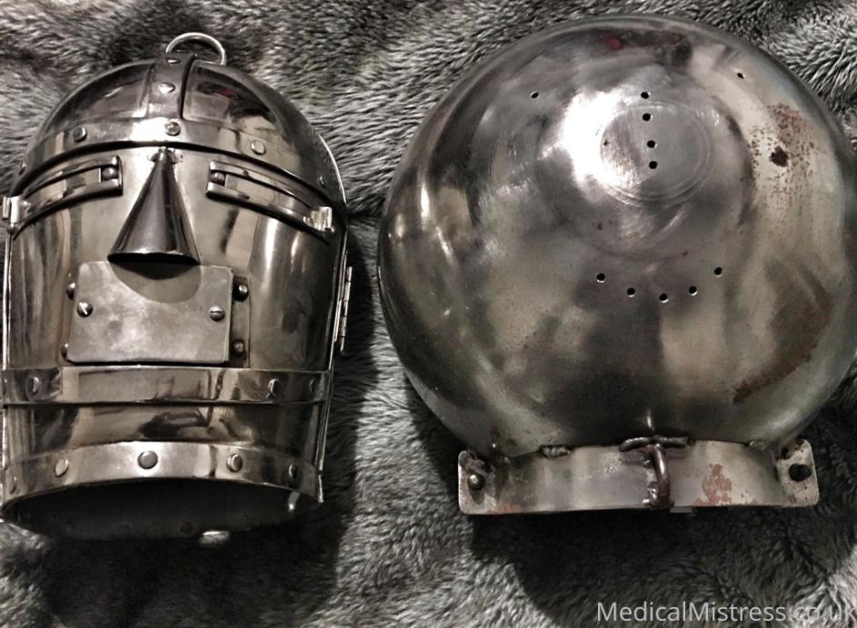 Mediaeval Helmet & Balloon Helmet - Steel Bondage
