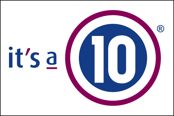 its a 10 logo