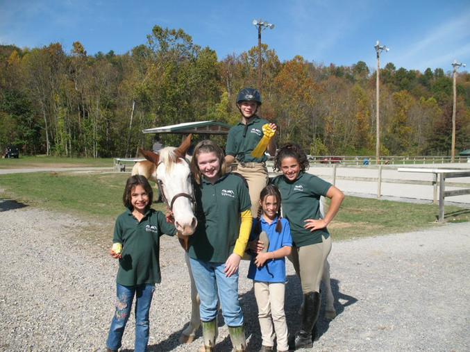 Students in their LSF gear at Green Hill Park
