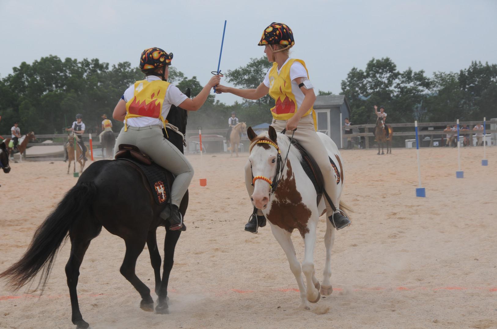 Leroy and Bo at Pony Club Games Rally