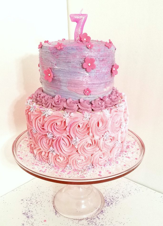 Rosette Pink & Purple