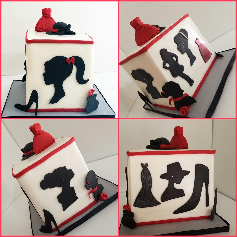 Silhouette Birthday Cake
