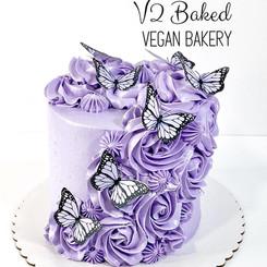 Purple Butterfly Rosette