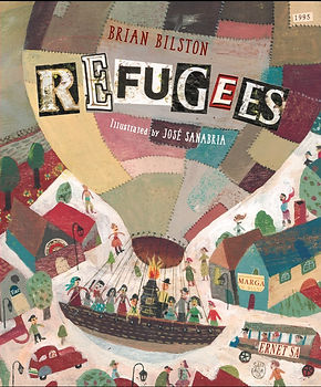 Refugees by Brian Bilston. Illustrated by José Sanabria