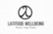 Lattitude Wellbeing logo black and white