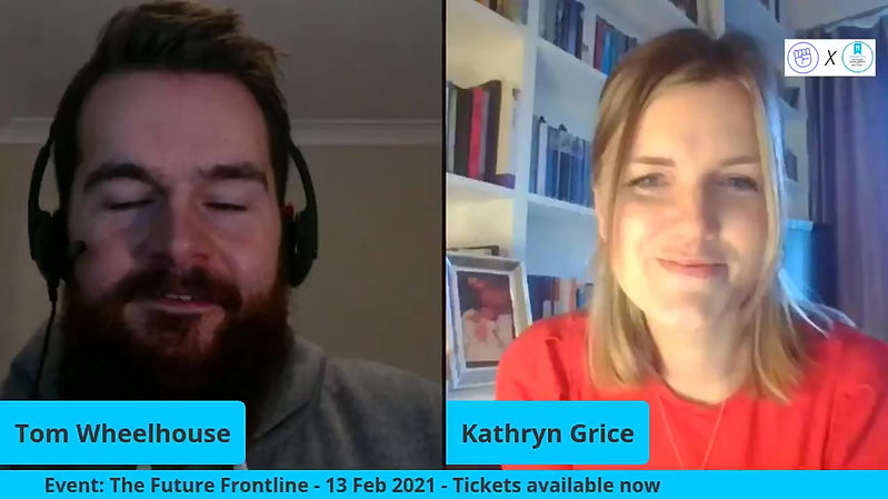 Tom Wheelhouse and Kathryn Grice discuss what theyve got in store for the Future Frontline event on the 13th February 2021