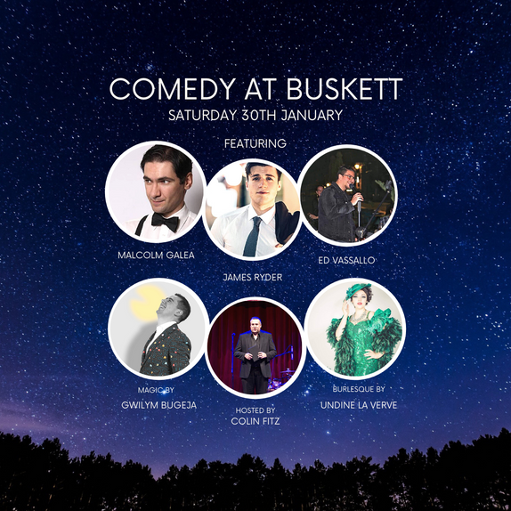 COMEDY AT BUSKETT