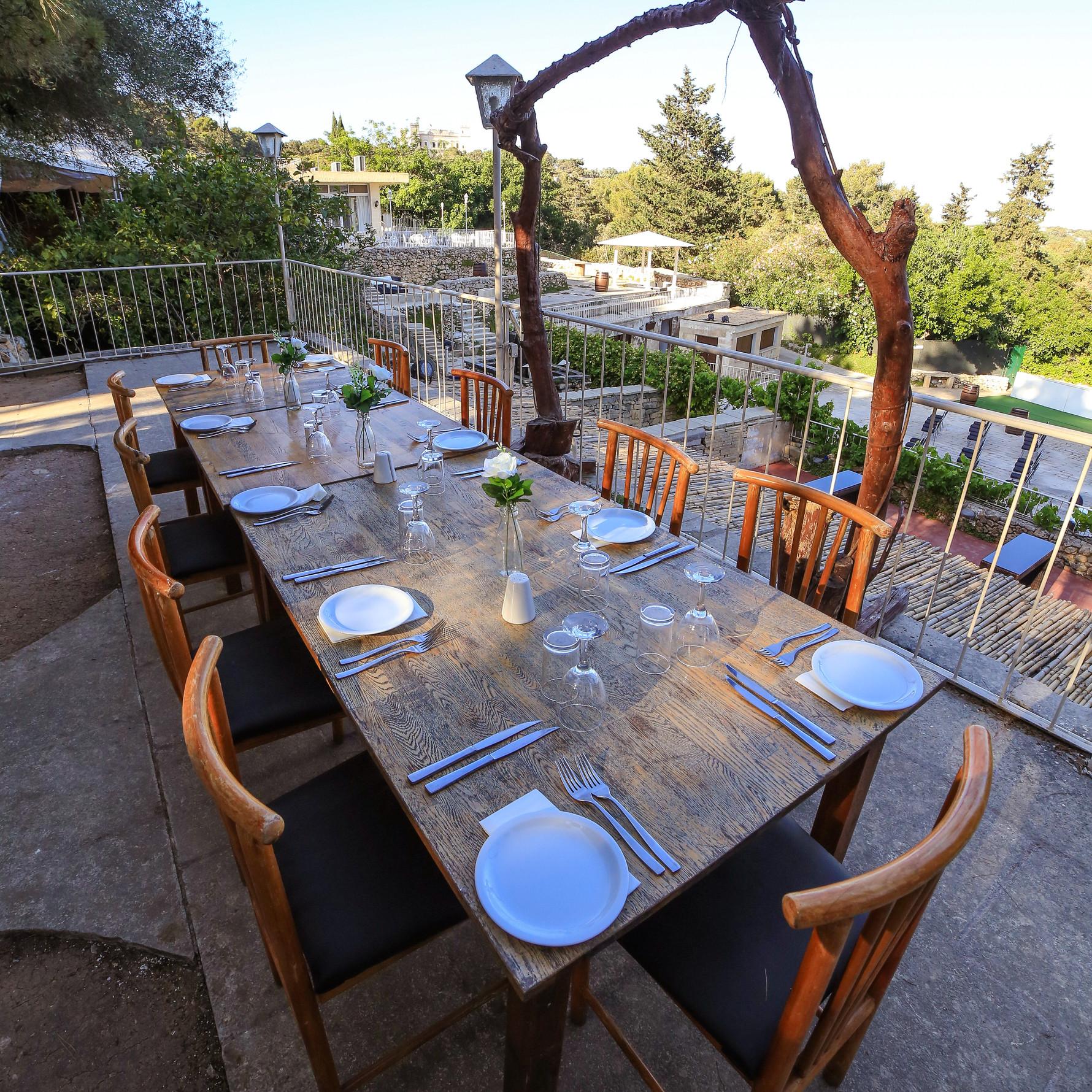 IMG_7146; balcony; daylight; table setup