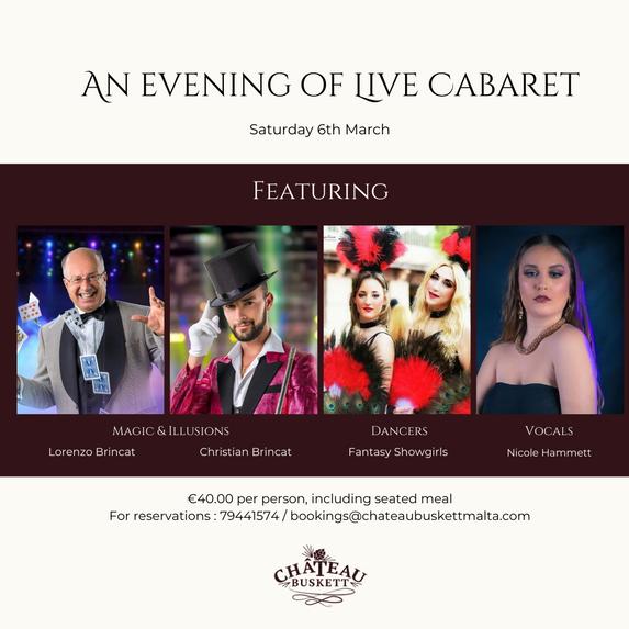 An evening of live cabaret
