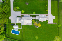 Drone View Over Main Dwelling and Guest
