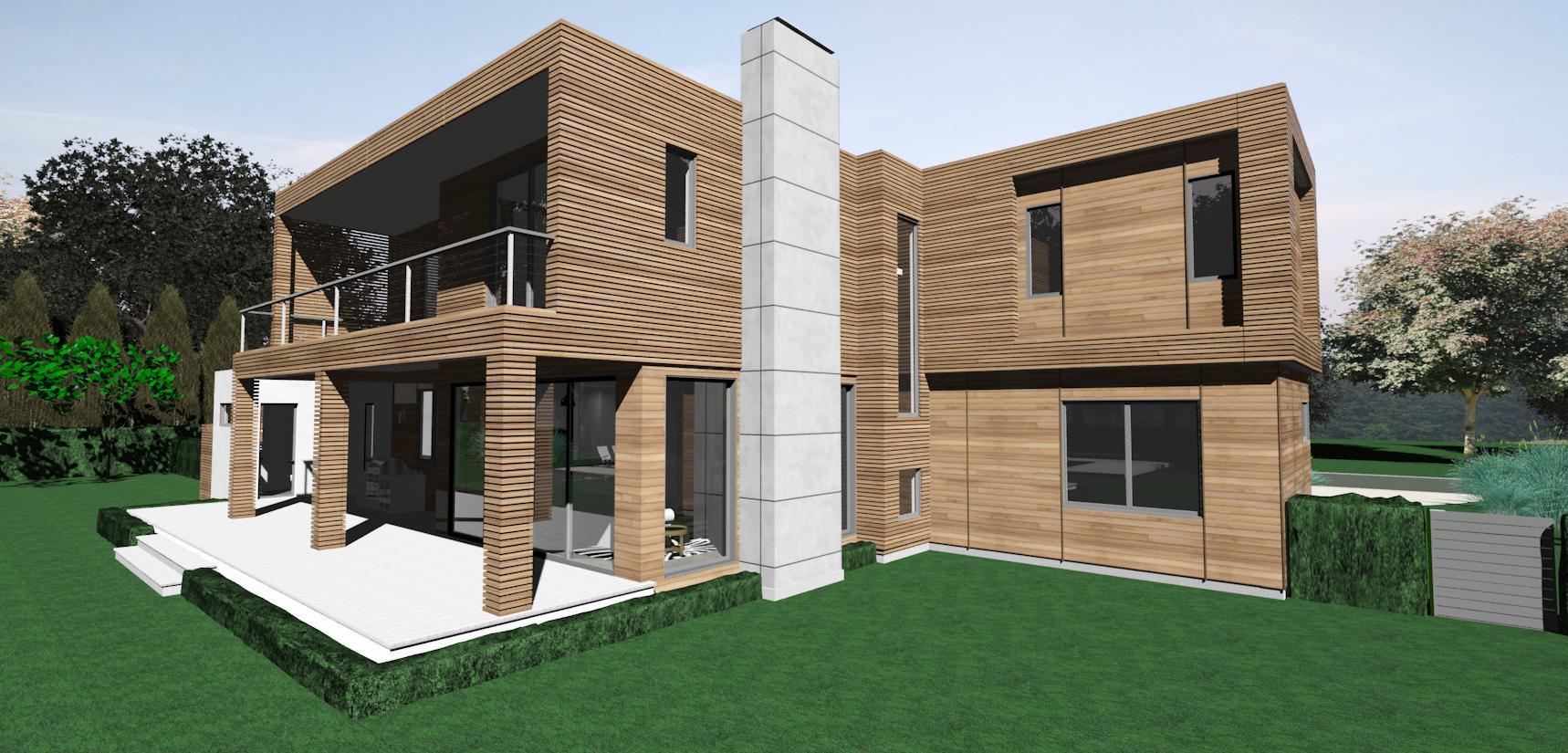 Rear facade