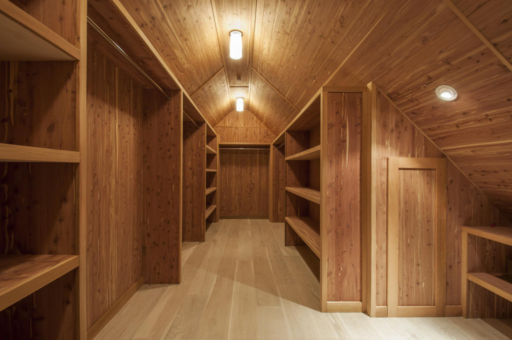 Cedar Storage Closet - in Attic