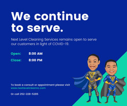 We are HERE to serve! We have extended our hours Monday-Saturday 8am-8pm