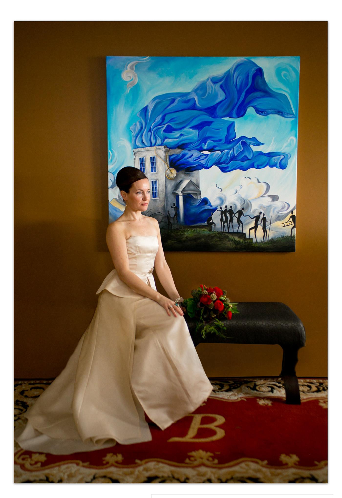 elegant wedding pose