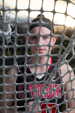 girls high school lacrosse portrait