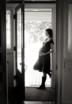 expecting mother in doorway
