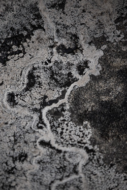 black & white stone
