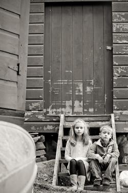 rustic toddler portrait