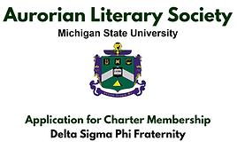 Aurorean Literary Society APPLICATION to