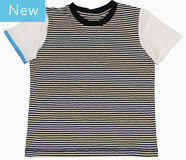 Ringel T-Shirt mit Rundhals